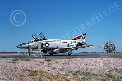 F-4USN 00721 A taxing McDonnell Douglas F-4J Phantom II US Navy 158348 VF-154 BLACK KNIGHTS USS Ranger NAS Fallon 12-1975 military airplane picture by Michael Grove, Sr