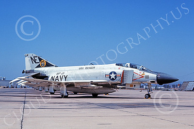 F-4USN 00659 A static McDonnell Douglas F-4 Phantom II US Navy VF-21 FREELANCERS USS Ranger NAS Miramar 2 Aug 1969 military airplane picture by Duane A Kasulka