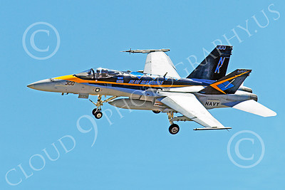 CAG 00174 McDonnell Douglas F-18C Legacy Hornet USN VFA-146 BLUE DIAMONDS USS Ronald Reagan, by Peter J Mancus
