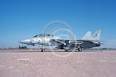 F-14USN 00855 A taxing Grumman F-14 Tomcat USN 163221 VF-74 BEDEVILERS USS Saratoga NAS Fallon 10-1991, by Michael Grove, Sr