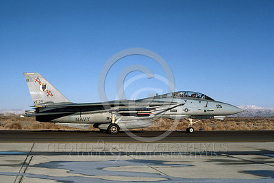 F-14USN 00841 A taxing Grumman F-14 Tomcat USN 160896 VF-74 BEDEVILERS USS Saratoga NAS Fallon 2-1985, by Michael Grove, Sr