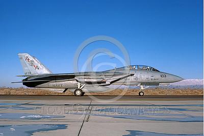 F-14USN 00837 A taxing Grumman F-14 Tomcat USN VF-74 BEDEVILERS USS Saratoga NAS Fallon 2-1985, by Michael Grove, Sr