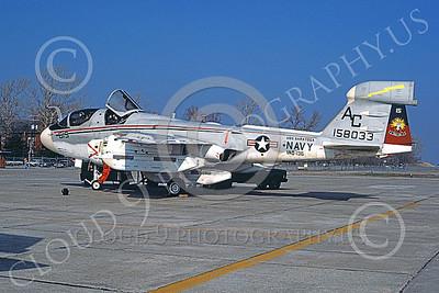 EA-6BUSN 00307 A static Grumman EA-6B Prowler USN 158033 VAQ-136 GAUNTLETS USS Saratoga NAF Washington 4-1979 military airplane picture by Michael Grove, Sr