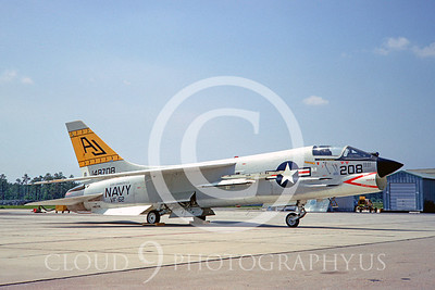 F-8USN 00021 Vought F-8 Crusader VF-62 USS Shangrila 25 May 1967 by Clay Jansson
