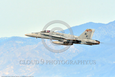 "F-18-VMFA-312 0006 A McDonnell Douglas F-18A Hornet USMC jet fighter 164900 VMFA-312 CHECKERBOARDS USS Theodore Roosevelt ""FIGHT'S ON"" climbs out after take off at NAS Fallon 3-2017 military airplane picture by Peter J Mancus     DONEwt"