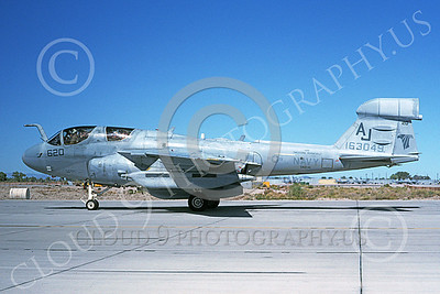 EA-6BUSN 00325 A taxing Grumman EA-6B Prowler USN 163049 VAQ-141 SHADOWHAWKS USS Theodore Roosevelt NAS Fallon 10-1992 military airplane picture by Michael Grove, Sr