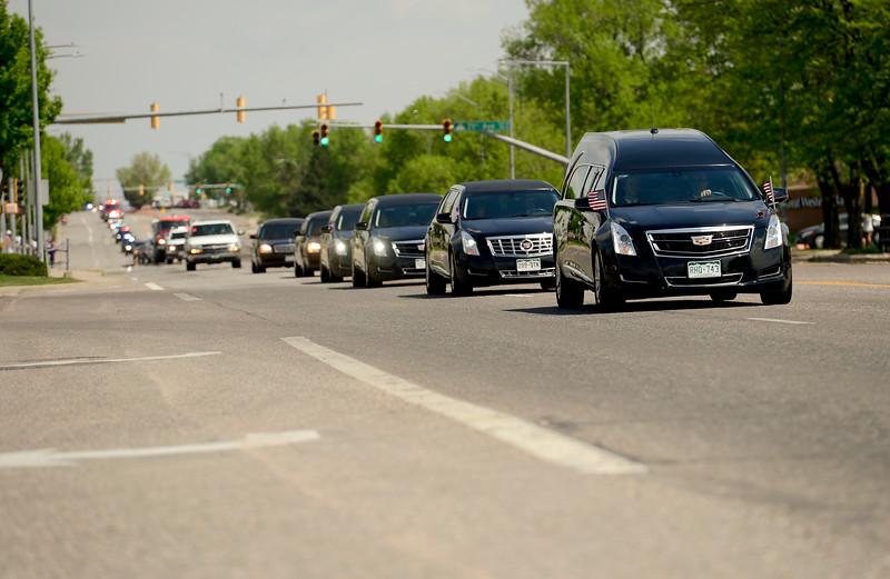Funeral Procession U.S. Army Spc. Gabriel Conde