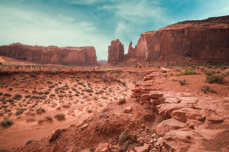 Monument Valley River Bed