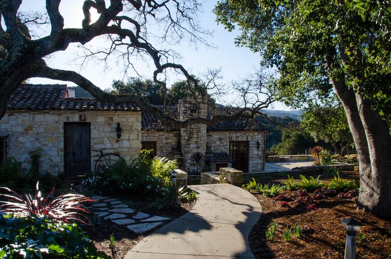 The Holman Ranch estate, a popular wedding venue in Carmel Valley, California