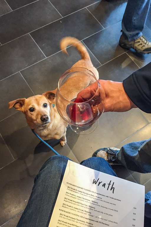 Wine tasting on the Carmel Wine Walk: Wrath Winery