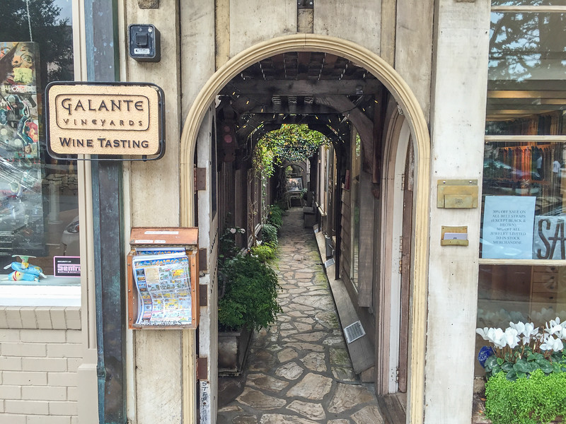 Carmel's hidden alleys on the Carmel Wine Walk