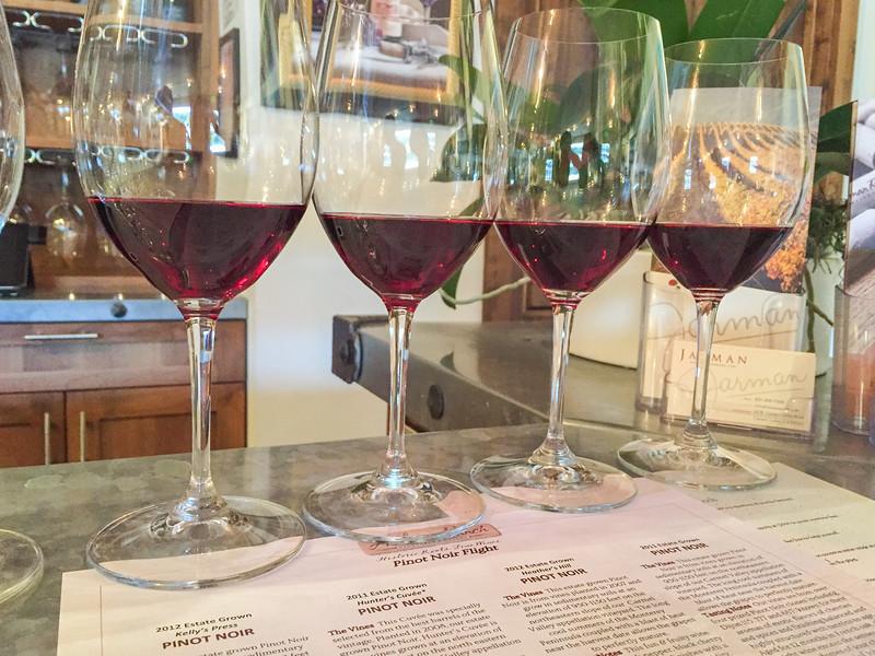Wine tasting in Carmel Valley, California | Pinot Noir at Holman Ranch tasting room