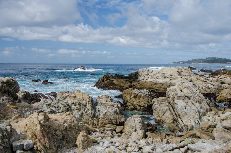 Rugged rocks at Carmel River State Beach | Things to do in Carmel California