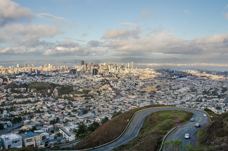 The view from Twin Peaks San Francisco.