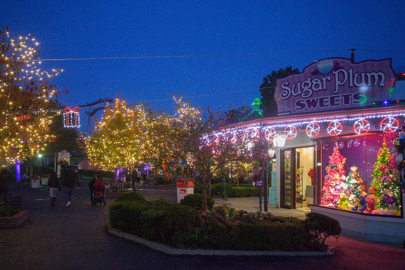 Christmas lights at California's Great America Winterfest, Santa Clara