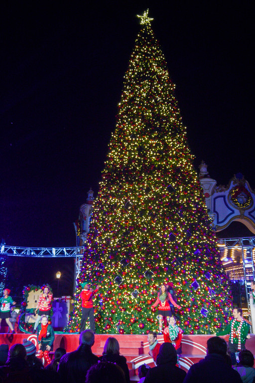 Christmas Tree Lighting at Great America's Winterfest