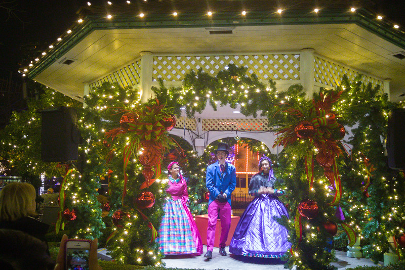 Carolers at Winterfest, California's Great America