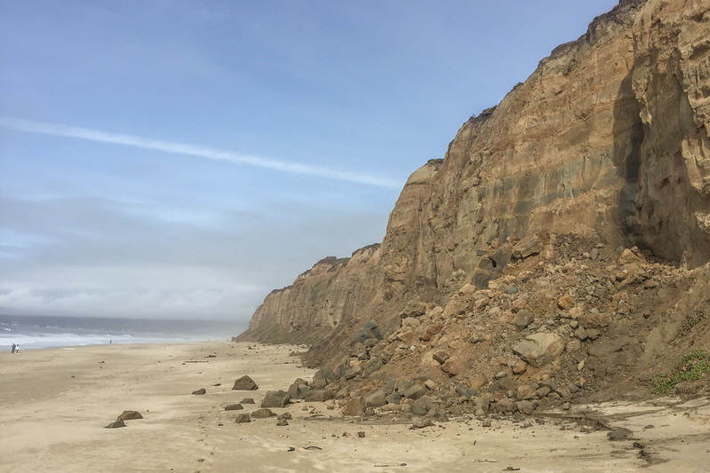 Coastal landslides in Half Moon Bay, CA