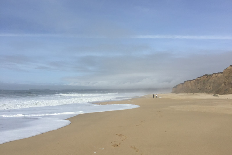 A Hike on the Beach in Half Moon Bay, CA