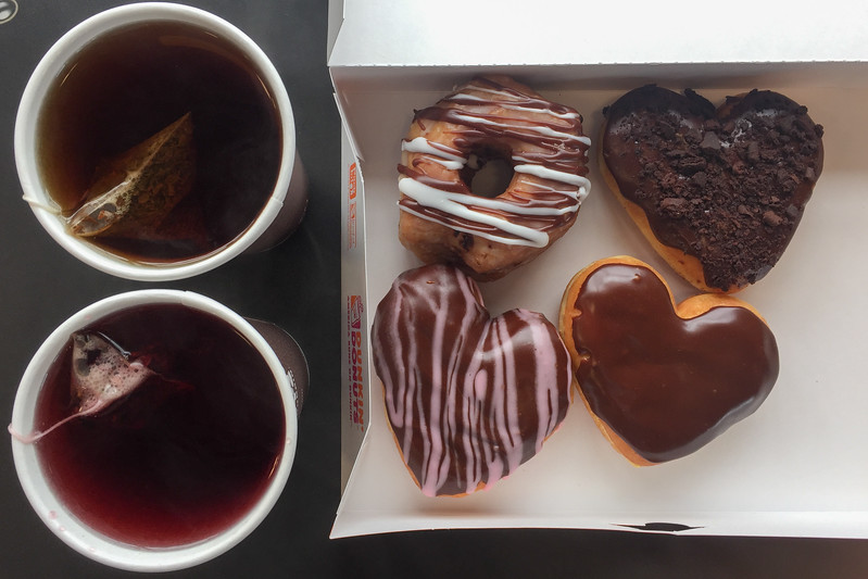 Breakfast of Champions: Donuts and Tea at Dunkin' Donuts Half Moon Bay, CA