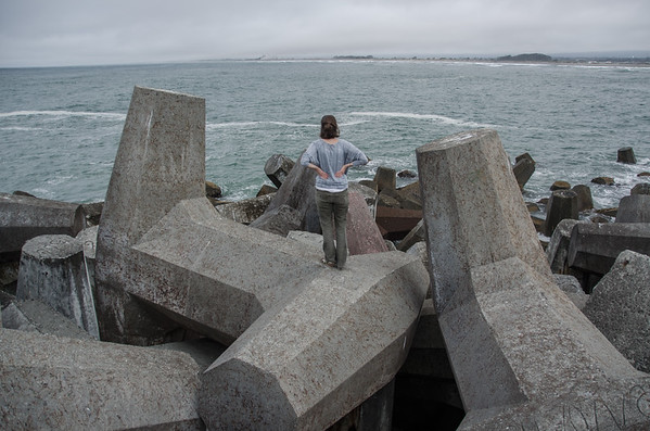 The dolos at North Jetty - Eureka, CA