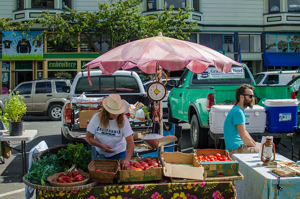 The Arcata Farmers Market, Saturdays on the main square - Arcata, CA