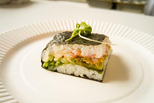 Japanese food sampling at the J-Pop Summit
