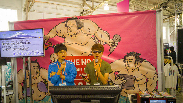 Karaoke at J-Pop Summit 2015 at Fort Mason, San Francisco