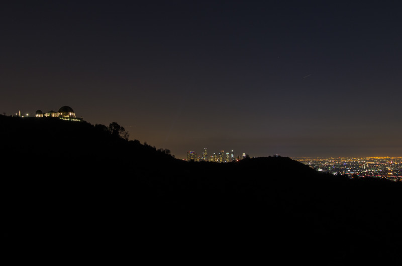 Los Angeles at Night: Views of Griffith Park Observatory, Downtown LA , and the lights of the city.
