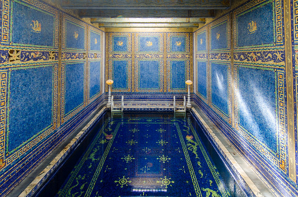 The Roman Pool at Hearst Castle, California