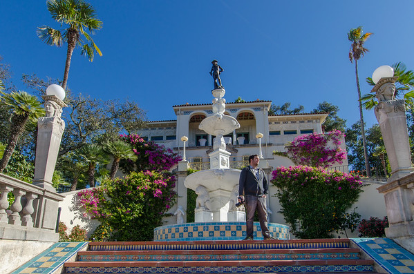 "Casa del Mar and replica of Donatello's ""David"" sculpture. Things to see at Hearst Castle, California"