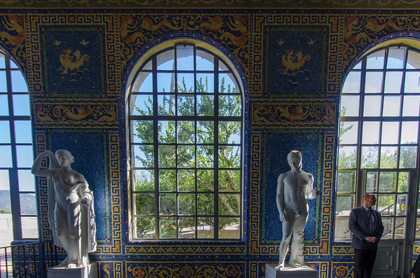 Roman art at the Roman Pool, Hearst Castle California