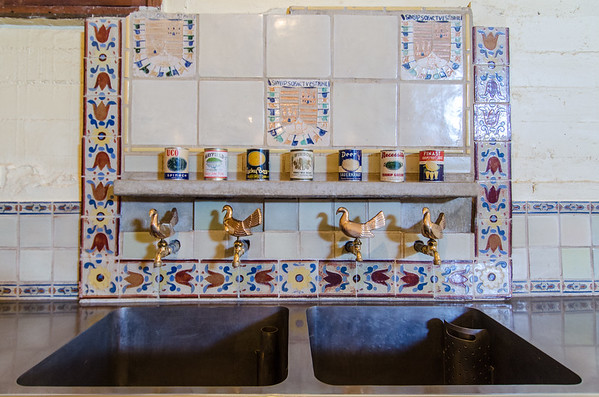 Inside the Hearst Castle kitchen. Photo tour of Hearst Castle California