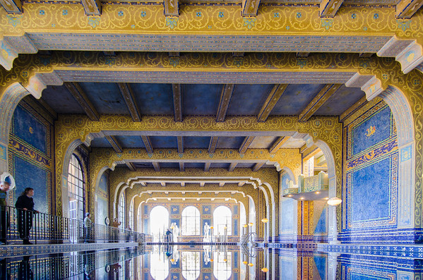 The ornate, gilded Roman Pool, highlight of the Hearst Castle Tour