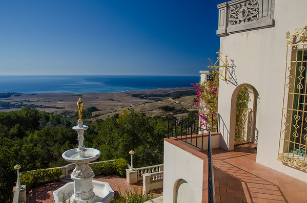 View from the Casa del Mar guest house, Hearst Castle in California