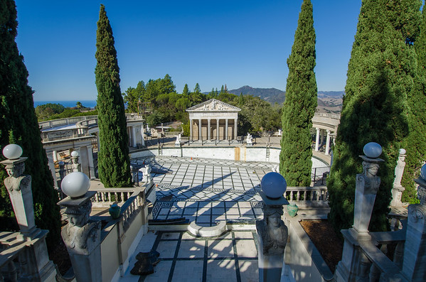The Neptune Pool. Things to see at Hearst Castle in California