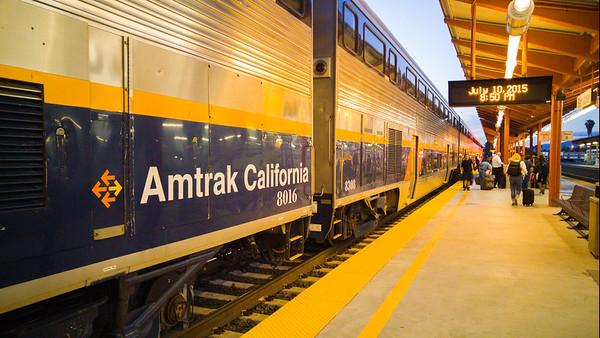 Amtrak California Capitol Corridor Train at San Jose Diridon Station