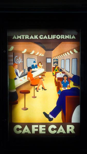 Amtrak California Cafe Car poster