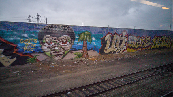 Street art in Oakland |Amtrak Capitol Corridor Train