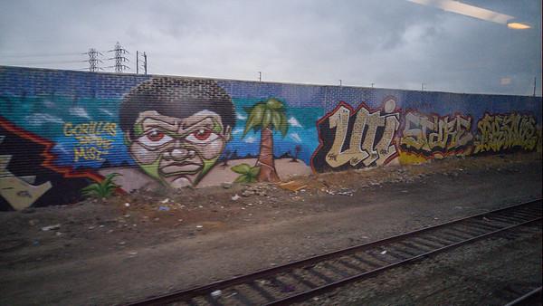 Street art in Oakland |Amtrak Capitol Corridor Train