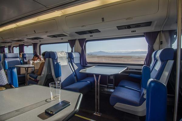 Amtrak seats and interior