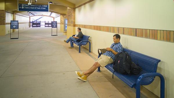 Waiting.... at the Sacramento Train Station