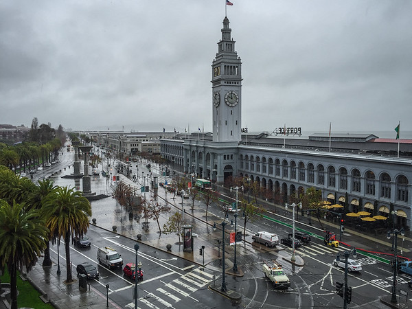 The Ferry Building, historic ferry terminal turned gourmet food market in San Francisco