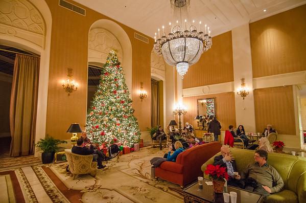 Christmas decorations at the Intercontinental Mark Hopkins, San Francisco