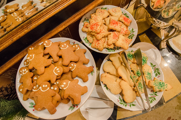 Christmas cookies for guests stopping in to see the holiday decor. At the Intercontinental Mark Hopkins, San Francisco