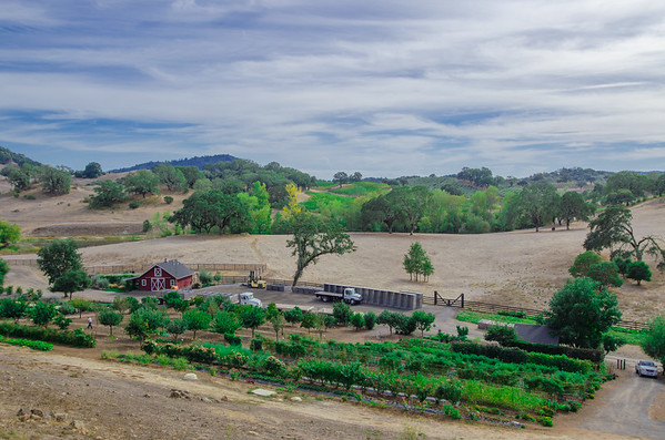 The massive 1,200 acre estate at Jordan Winery, Alexander Valley, Sonoma County