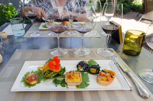 A mustard and wine pairing at DeLoach Vineyards, Sonoma County