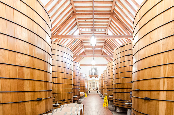 The vintage cask room at Jordan Winery, Alexander Valley, Sonoma County