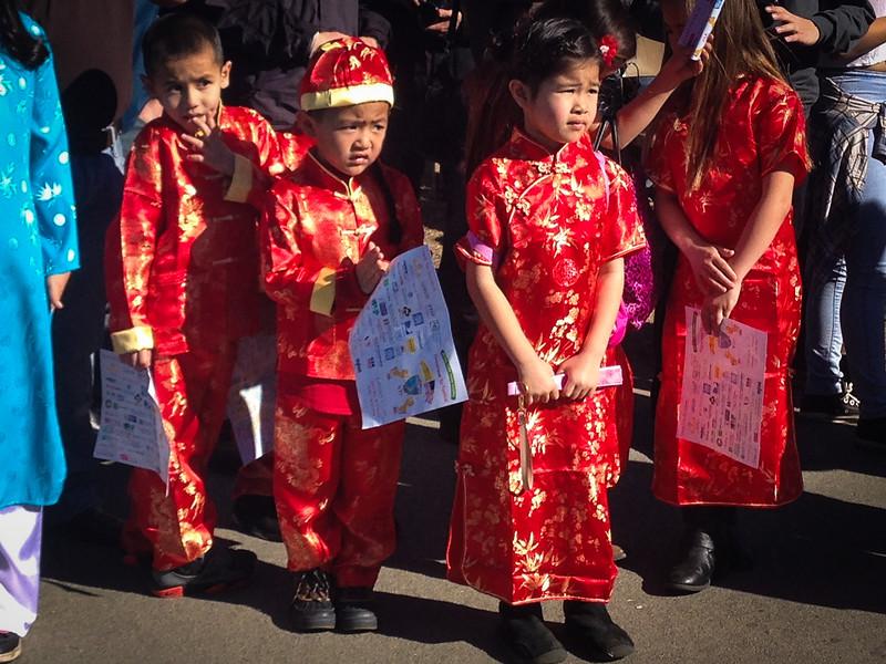 Beautiful traditional dress at Vietnamese New Year - Tet San Jose, California