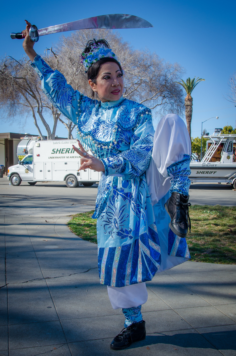 Traditional Vietnamese dress at Tet San Jose. Celebrating Vietnamese New Year in California